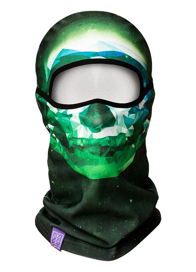 Polygon Skull Green Alpha